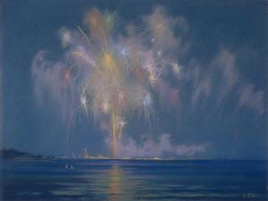 The Grand Finale, Late 19th-Early 20th Century (Pastel on Paper) by Lendall Pitts