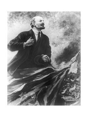 Lenin Making a Rousing Speech