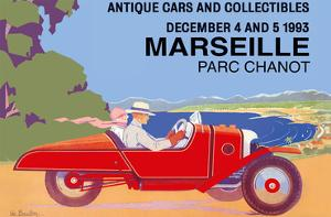 Marseille, France - Antique Cars and Collectibles - Le Parc Chanot Center - Cyclecar Morgan by Léo Bouillon