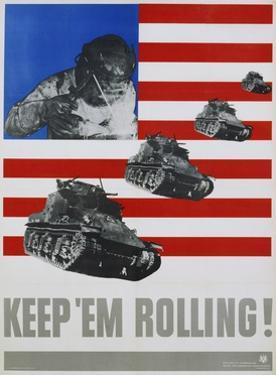 Keep 'Em Rolling! Poster by Leo Lionni