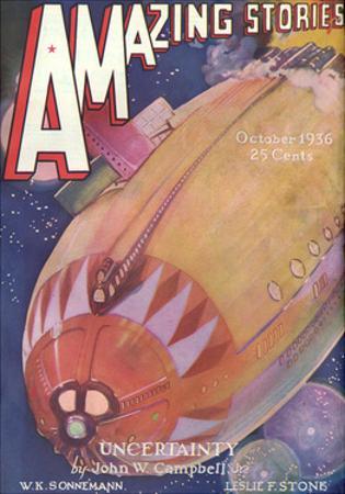 Alien Spacecraft 1936 by Leo Morey