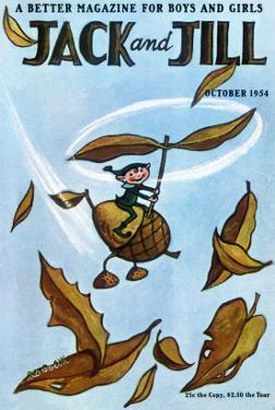 Flying Acorn - Jack and Jill, October 1954 by Leo Politi