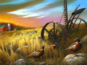 Pheasants I by Leo Stans