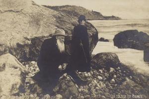 Leo Tolstoy and His Daughter in the Crimea
