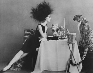 Vogue - November 1960 - Dining with a Cheetah by Leombruno-Bodi