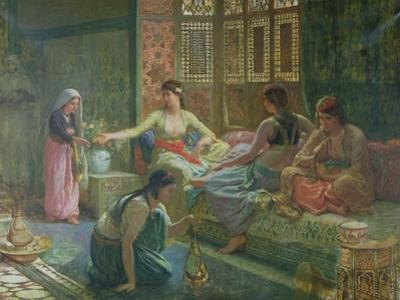 Interior of a Harem, circa 1865 by Leon-Auguste-Adolphe Belly