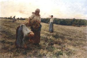 Gleaners at Sunset, 1889 by Leon-Augustin Lhermitte
