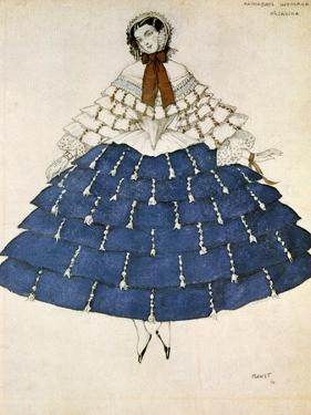 Chiarina, Design for a Costume for the Ballet Carnival Composed by Robert Schumann, 1919 by Leon Bakst