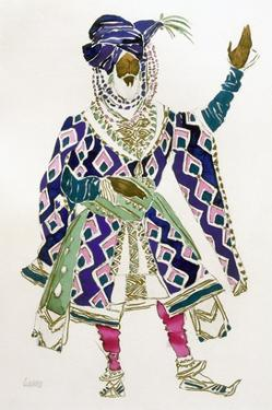 Costume Design for a Sultan (W/C on Paper) by Leon Bakst
