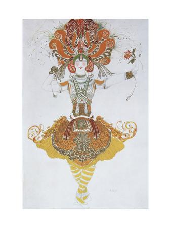 Costume Design for Tamara Karsavina in the Ballet the Firebird (L'Oiseau De Fe), 1909-1910