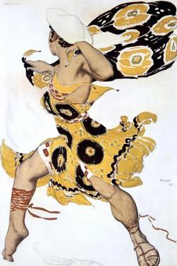 Ephebe, Costume Design for a Ballets Russes Production of Tcherepnin's Narcisse, 1911 by Leon Bakst