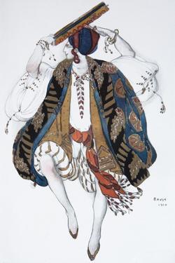 Jewish Dance. Costume Design for the Ballet Cléopatre, 1910 by Léon Bakst