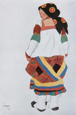 Peasant Woman, Costume Design for the Vaudeville Old Moscow at the Théâtre Femina in Paris, 1922 by Léon Bakst