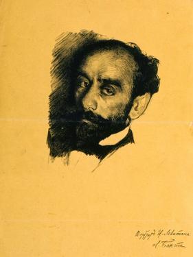 Portrait of the Artist Isaak Levitan, 1899 by Leon Bakst