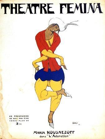 Poster for Igor Stravinsky's Ballet 'The Rite of Spring, 1911