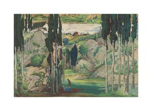 Set design for Act I from Daphnis and Chloe, 1912 by Leon Bakst