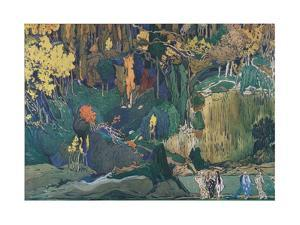 Stage Design for the Ballet the Afternoon of a Faun by C. Debussy, 1912 by Léon Bakst