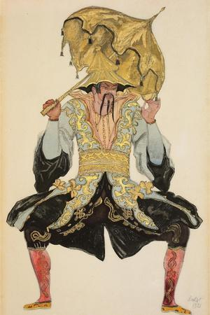 The Chinese Mandarin, Costume Design for 'Sleeping Beauty', 1921 (Pencil, W/C and Gouache)