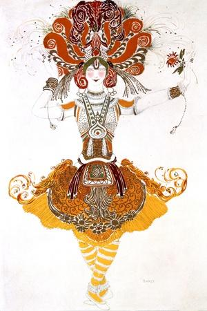 The Firebird, Costume Design for Tamara Karsavina in Stravinsky's Ballet the Firebird, 1910
