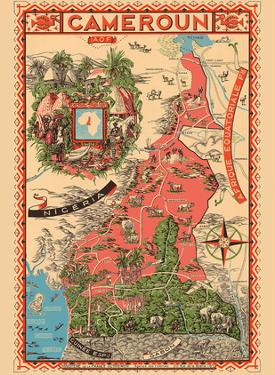 Map of French Cameroun-French West Africa by Léon Craste