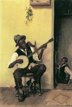 The Banjo Player, 1881 by Leon Delachaux