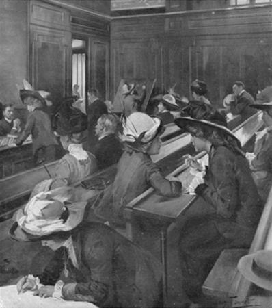 Girls at Sorbonne 1911