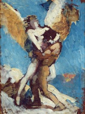 Jacob Wrestling with the Angel, c.1876 by Leon Joseph Florentin Bonnat