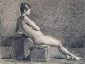 Model in Profile, C1853-1922 by Leon Joseph Florentin Bonnat