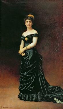 Portrait of Madame Bishoffsheim, 1877 by Leon Joseph Florentin Bonnat