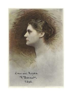 Study for a Profile of Rose Caron by Leon Joseph Florentin Bonnat