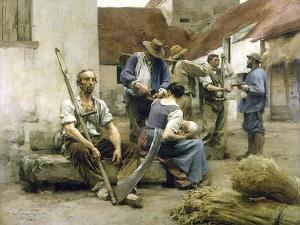 La paye des moissonneurs by Léon Lhermitte