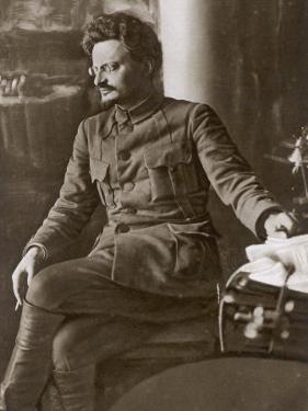 Leon Trotsky or Lev Davidovich Bronstein Russian Communist Leader in 1920