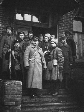 Leon Trotsky with His Bodyguards, 1919