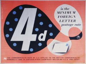 4D Is the Minimum Foreign Postage Rate by Leonard Beaumont