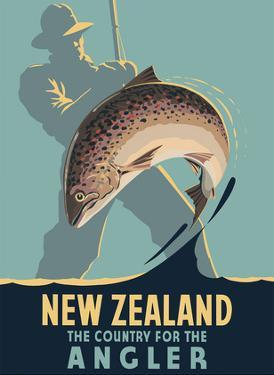 New Zealand - The Country for the Angler - Fly Fishing by Leonard C. Mitchell