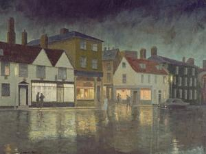 Angel Hill, Bury St. Edmunds, 1962 by Leonard Campbell Taylor