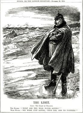WW1 - Cartoon - Kaiser on North Sea Coast by Leonard Craven Hill