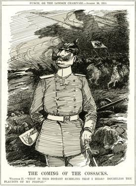 WW1 - Cartoon - Wilhelm II Hears the Cossacks Coming by Leonard Craven Hill