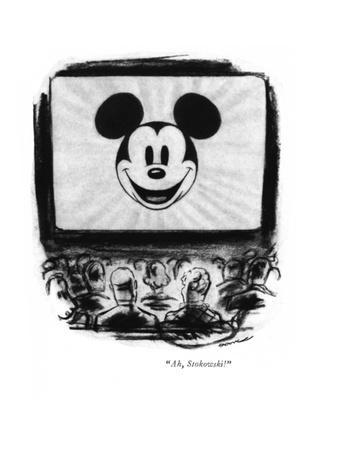 """Ah, Stokowski!"" - New Yorker Cartoon"