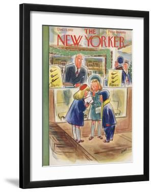 The New Yorker Cover - December 13, 1952 by Leonard Dove