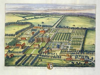 Doddington in the County of Lincoln Engraved by Johannes Kip (C.1652-1722)