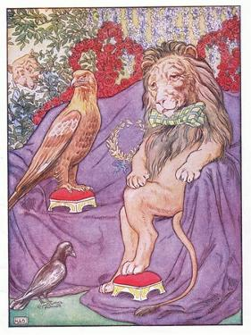 And the Eagle Looked Quite Regal, Illustration from 'Johnny Crow's Party', c.1930 by Leonard Leslie Brooke