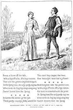 It Was a Lover, 1895 by Leonard Leslie Brooke