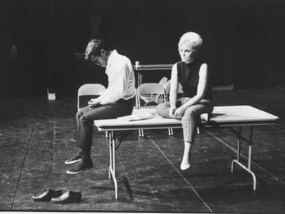 "Actor/Singer Sammy Davis Jr. with Actress Paula Wayne During Rehearsal of ""Golden Boy"""