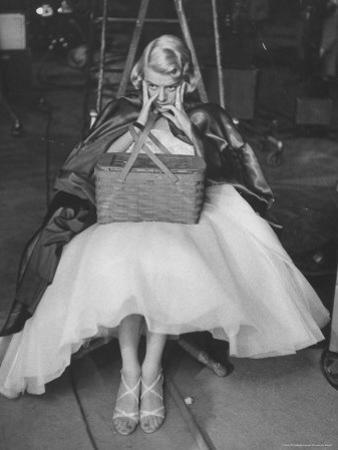 """Actress, Rosemary Clooney on Her TV Show Rehearsing Part of """"Red Riding Hood Skit"""""""