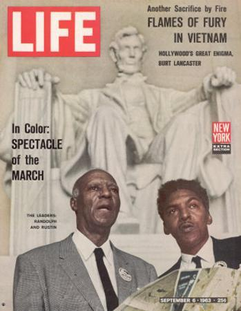 African American Activists Randolph and Rustin, Organizers of the Freedom March, September 6, 1963