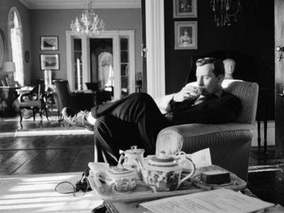 Author Gore Vidal at Home