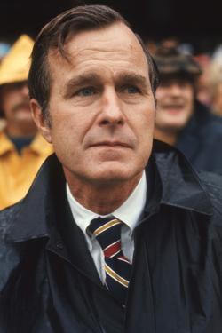 George Hw Bush at Football Game, Rfk Stadium, Washington DC, October 10, 1971 by Leonard Mccombe
