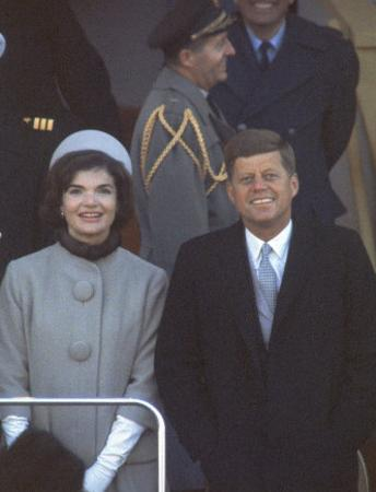 President Kennedy with First Lady Jackie at His Inauguration