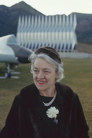 Republican Senator Margaret Madeline Chase Smith on Grounds of Air Force Academy, Denver, Co, 1963